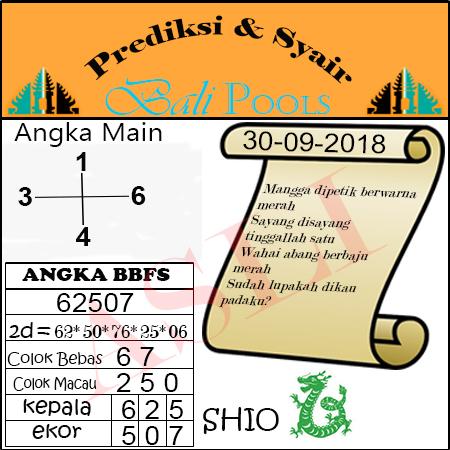Syair Togel Bali 30 September