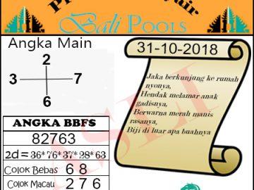 Syair Togel Bali 31 Oktober