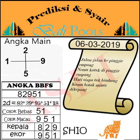 Syair Togel Bali 06 Maret