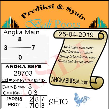 Syair Togel Bali 25 April