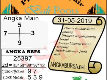 Syair Togel Bali 31 Mei