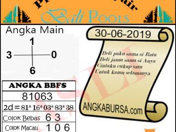 Syair Togel Bali 30 Juni