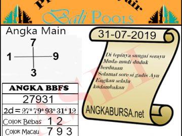 Syair Togel Bali 31 Juli