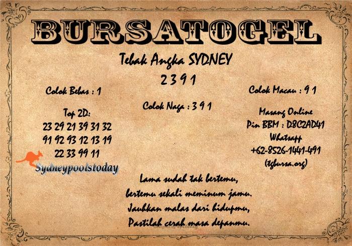 Syair Togel Sydney 29 April - RUMAH PREDIKSI